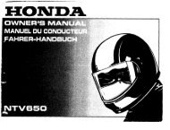 Page 1 Page 2 Page 3 HONDA NTV650 OWNER'S MANUAL ...