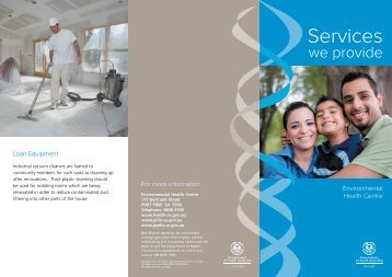 Services we provide – Environmental Health Centre Brochure (PDF ...