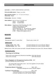 CURRICULUM VITAE First and middle names: Philippe, Louis ... - LEP