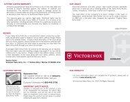 Victorinox Lock blade Manual
