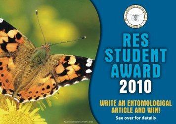 reS Student aWard 2010 - Royal Entomological Society