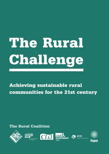 The Rural Challenge - The Rural Coalition