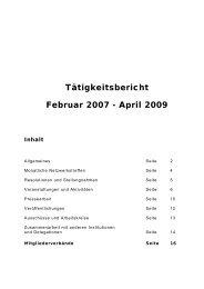 Bericht 2007 bis 2009 - Landesfrauenrat Hamburg eV