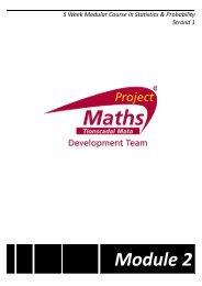 Module 2: Participant notes - Project Maths