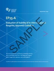 EP25-A: Evaluation of Stability of In Vitro Diagnostic ... - NetSuite