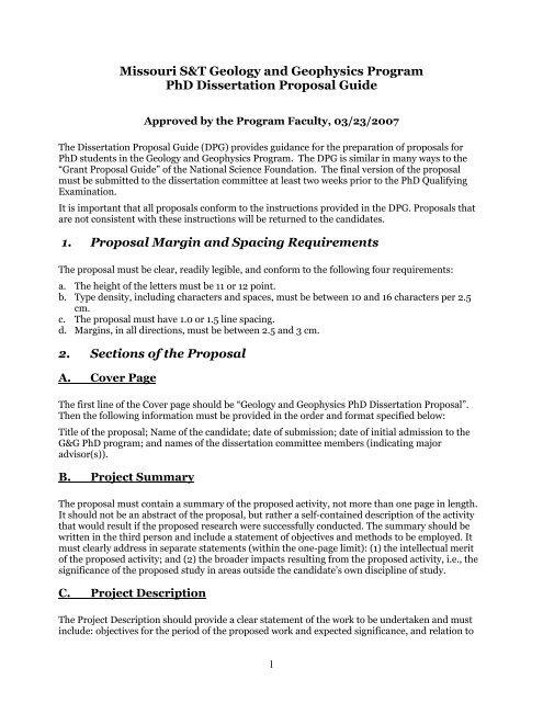 Phd Dissertation Proposal