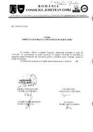 Situații financiare trimestriale - 31.03.2011 - Consiliul Judeţean Gorj