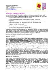 Information zur Klinischen Hypnose - Institut Systeme