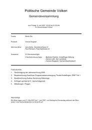 Protokoll vom 08.06.2007 - Gemeinde Volken