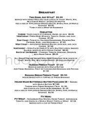 Breakfast - Hudson Cafe