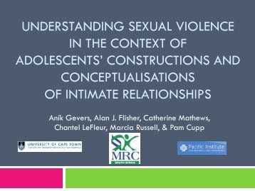 UNDERSTANDING SEXUAL VIOLENCE IN THE CONTEXT OF ADOLESCENTS ...