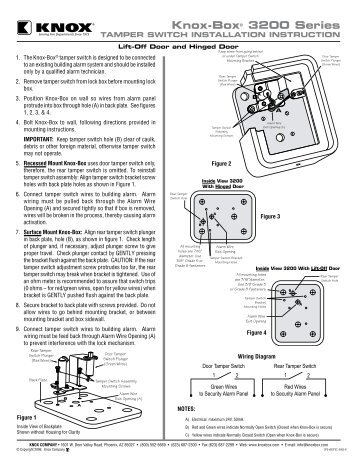 3200 Series Tamper Switch Mounting Instructions - Knox Box