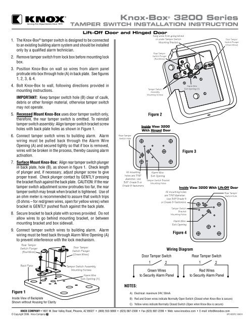 3200 series tamper switch mounting instructions knox box