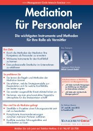 Seminar: Mediation für Personaler - Management Circle AG