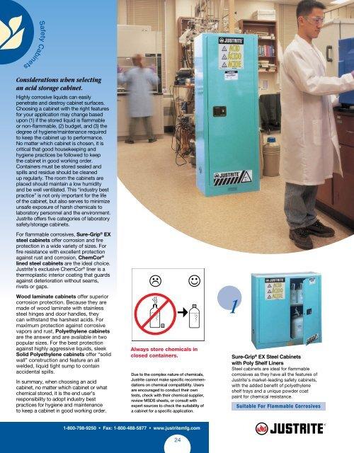 Justrite 8913022 ChemCor Steel 2 Door Manual Piggyback Lined Acid Corrosive Safety Cabinet 18 Height x 43 Width x 18 Depth Blue 12 Gallon Capacity