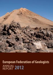 Annual report 2012 - European Federation of Geologists