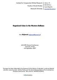 Organized Crime in the Western Balkans - Masaryk University
