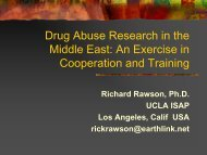 Drug Abuse Research in the Middle East - UCLA Integrated ...