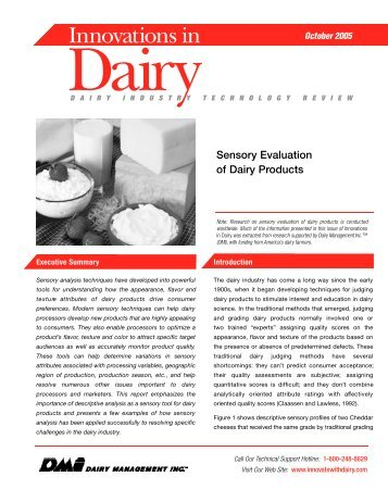 Sensory Evaluation of Dairy Products - InnovateWithDairy.com