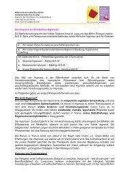 """Faltblatt """"Hypnose, Hypnotherapie, Ericksonsche ... - Institut Systeme"""
