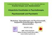 Hypnotherapie und Psychosomatik - Hypnose ... - Institut Systeme