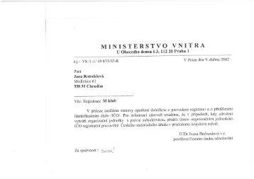 MINISTERSTVO VNITRA - M klub Medlešice
