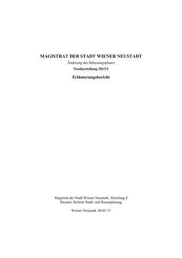 MAGISTRAT DER STADT WIENER NEUSTADT - Stadtgemeinde ...