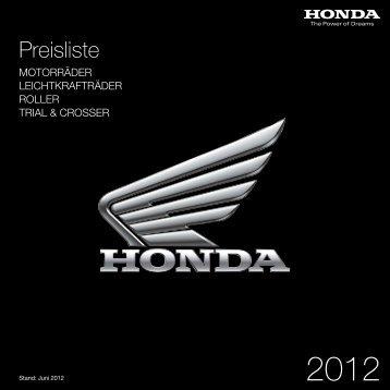 Preisliste - Honda