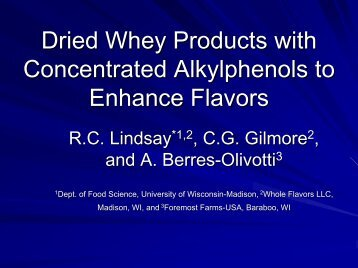 Dried Whey Products with Concentrated Alkylphenols to Enhance ...