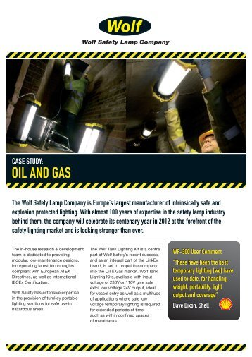 Download Case Study - Wolf Safety Lamp Company