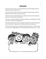 Preschool Handbook and Curriculum - Little Flower School