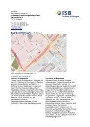 Anfahrtsbeschreibung (PDF) - ISB AG