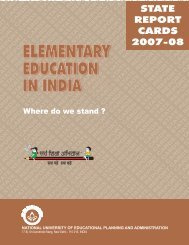 State Report Cards: 2007-08 - DISE