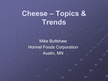 Cheese – What next? - InnovateWithDairy.com
