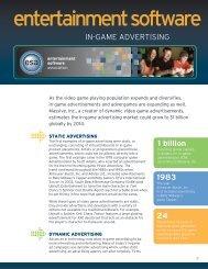 product development - The Entertainment Software Association