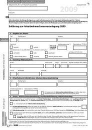 L1 - Erklärung zur Arbeitnehmerveranlagung für 2009 ... - Formulare