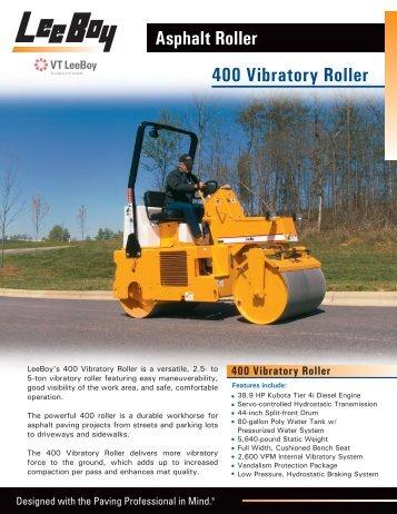 14939 Flyer - 400 Vibratory Roller back.ai - LeeBoy