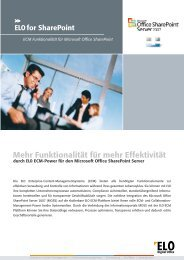ELO for ShareP  oint - INSIGMA IT Engineering  GmbH