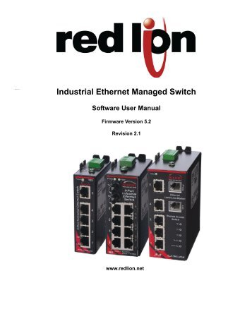 Industrial Ethernet Managed Switch Software User Manual - Sixnet