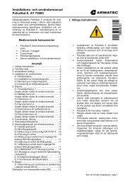 Bruksanvisning AT7500Cför Kompaktvärmemätare ... - Armatec AB