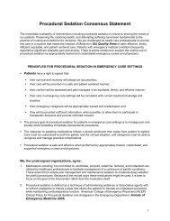 Procedural Sedation Consensus Statement - Emergency Nurses ...