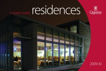 STUDENT GUIDE - Housing - Queen's University