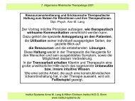 Ressourcenorientierung u. Ericksonsche Haltung ... - Institut Systeme