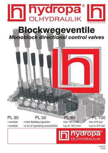 Blockwegeventile - Hydropa GmbH & Cie. KG