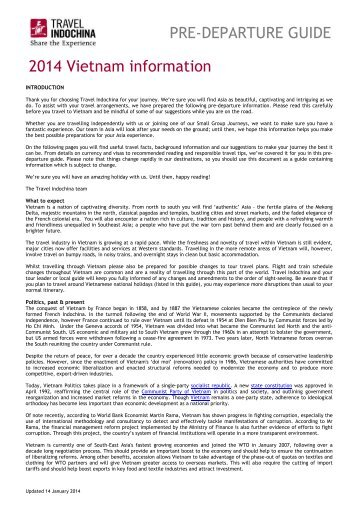2013 Vietnam information - Travel Indochina - Worldwide Agents ...