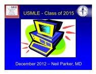 Dr. Parker's slides - Medical Student Resources