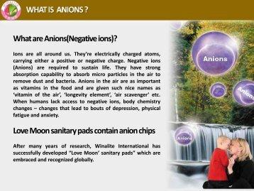 Benefit of Anion