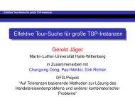 Effektive Tour-Suche f¨ur große TSP-Instanzen Gerold J¨ager Gerold ...