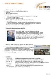 AlphaNetz-Brief Oktober 2012