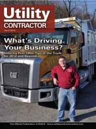 View Full April PDF Issue - Utility Contractor Magazine